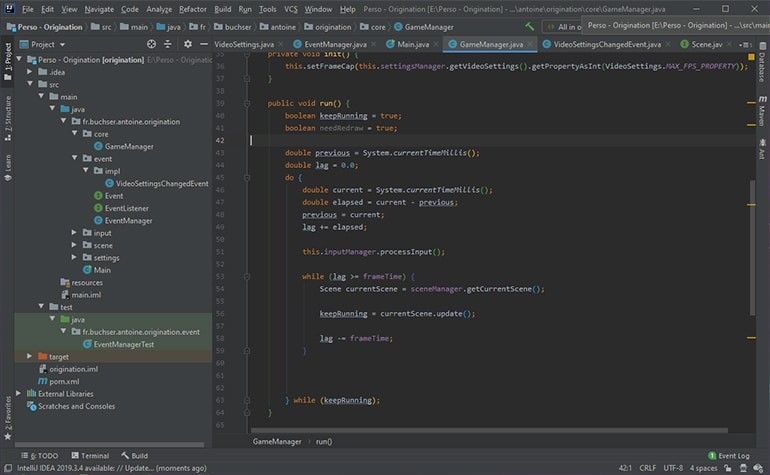 A screenshot of some code in the Intellij IDEA IDE, for the Java programming language