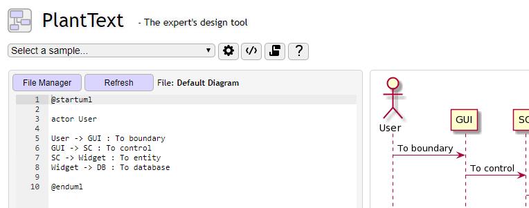 PlantText UML editor for PlantUML